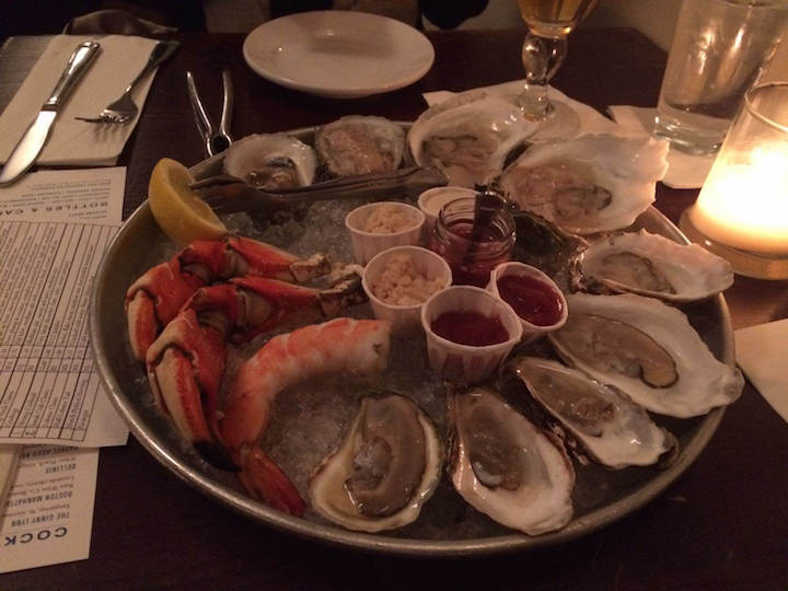 Having fresh oysters in January 2017