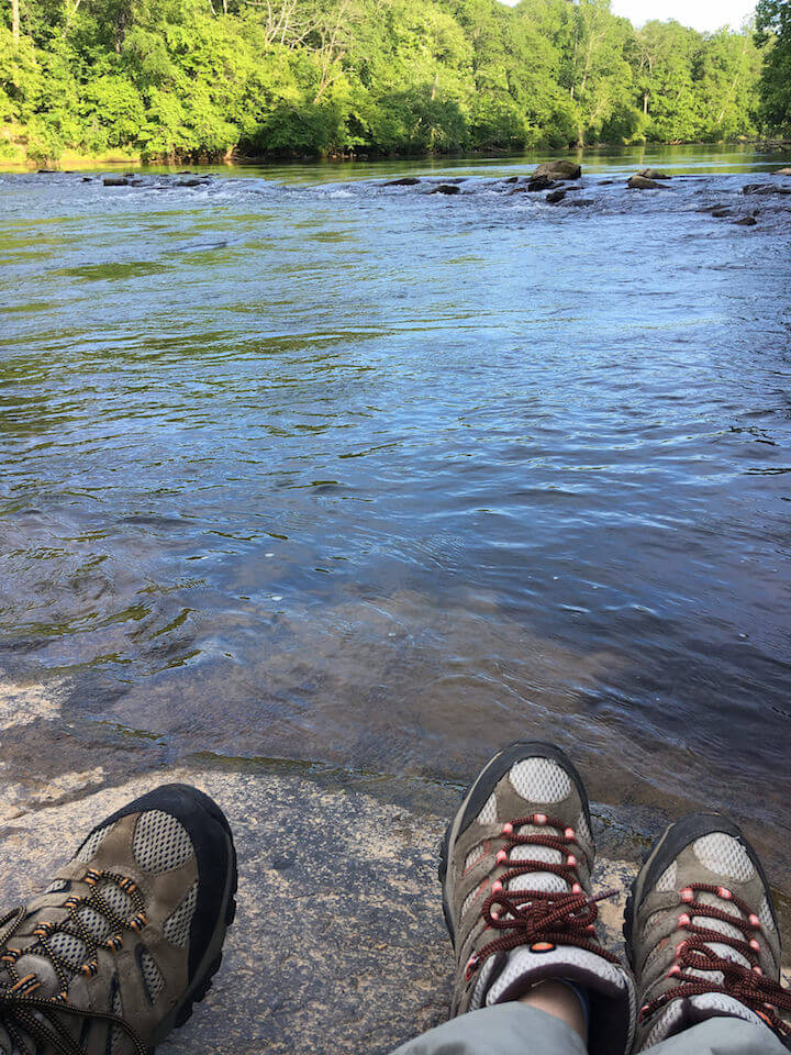Sitting by the river in Atlanta in May 2017