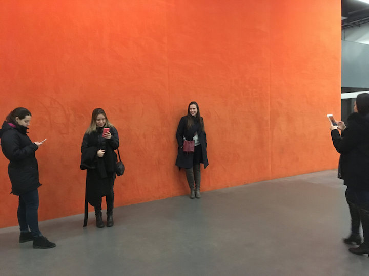 The Instagram wall in London's Tate Modern