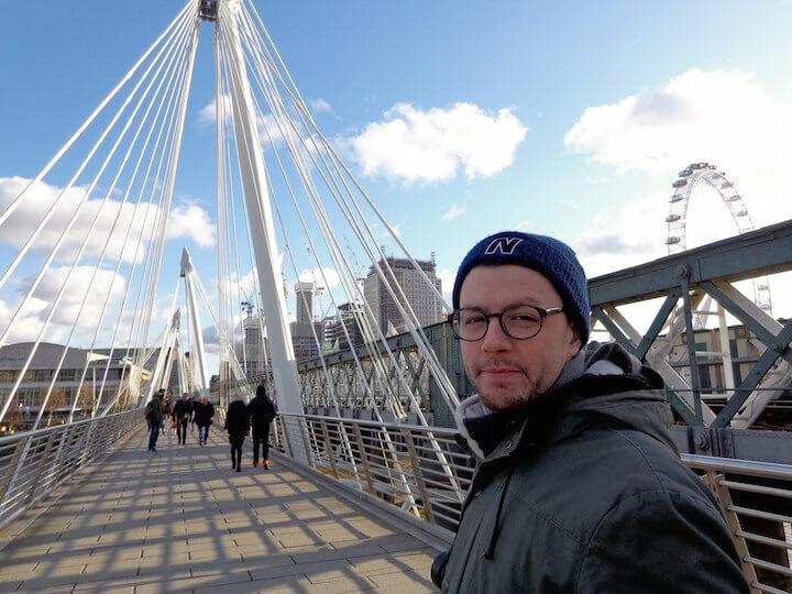 Walking around London with Joe