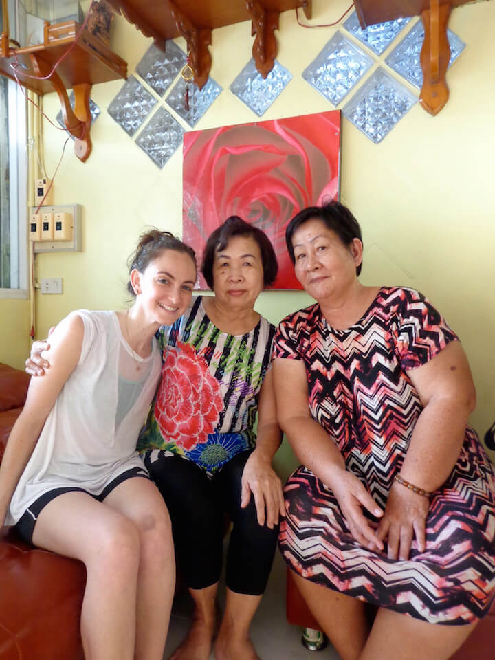With my land ladies 5 years later in Bangkok