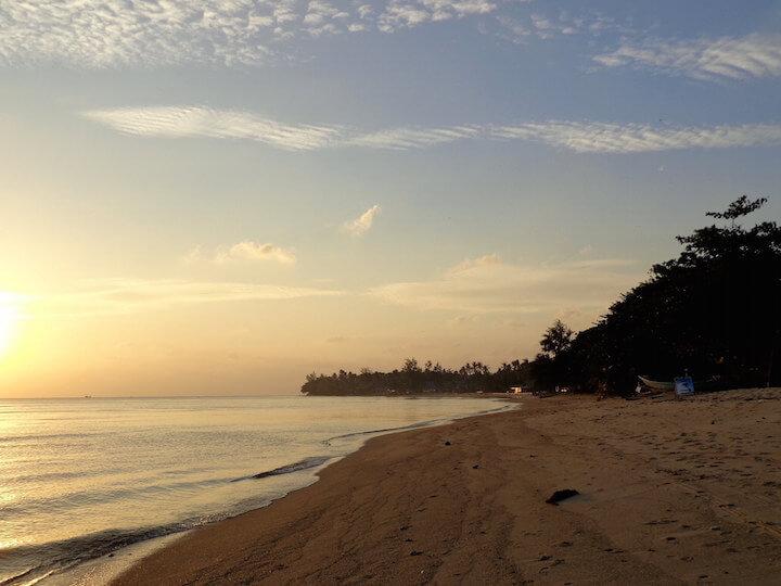 The sunset in Koh Phangan
