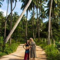 Palm tree photoshoot in Koh Tao