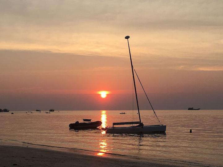 Sunset on Sairee Beach in Koh Tao
