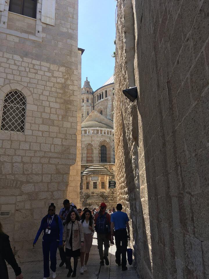Walking through Old City of Jerusalem