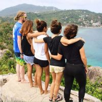 Girls at the John Suwan Viewpoint in Koh Tao