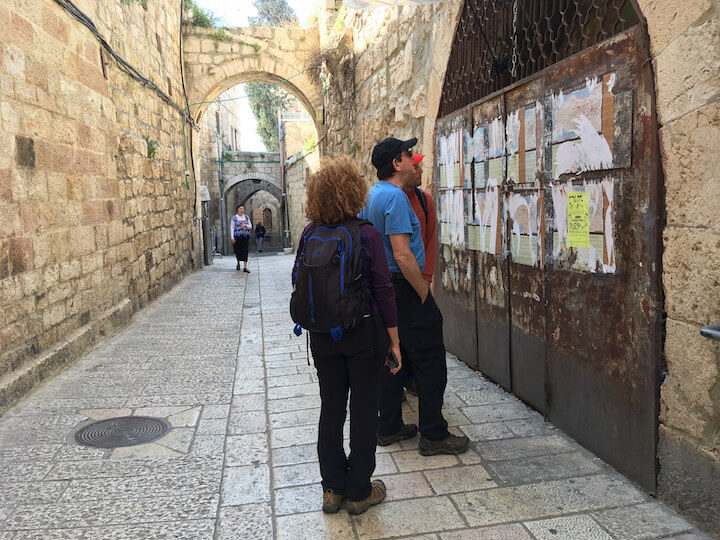 My parents and our tour guide exploring the Old City of Jerusalem