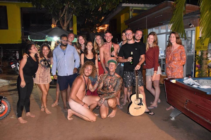 Thailand backpacker group photo