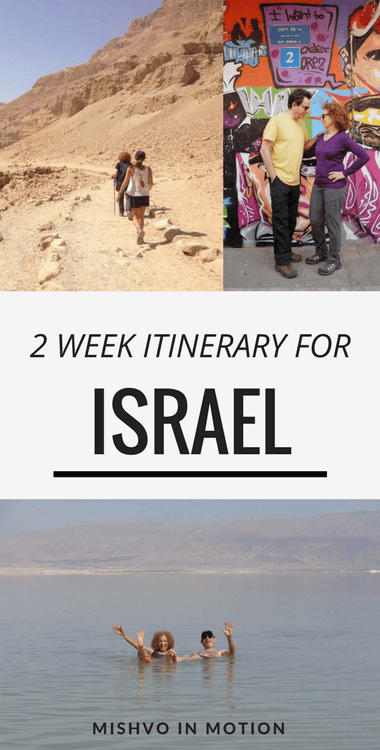 The best 2 week Israel itinerary if you've always wanted to go on Birthright Israel but just don't qualify. Check out all the best sites in ancient Israel, like Jerusalem, as well as modern Israel while in Tel Aviv. Traveling to Israel can be somewhat affordable if you create a solid itinerary ahead of time! #israeljerusalem #telaviv #israelitinerary