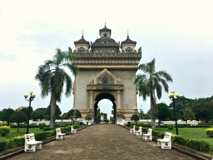 Patukay Gate Monument in Vientiane, Laos