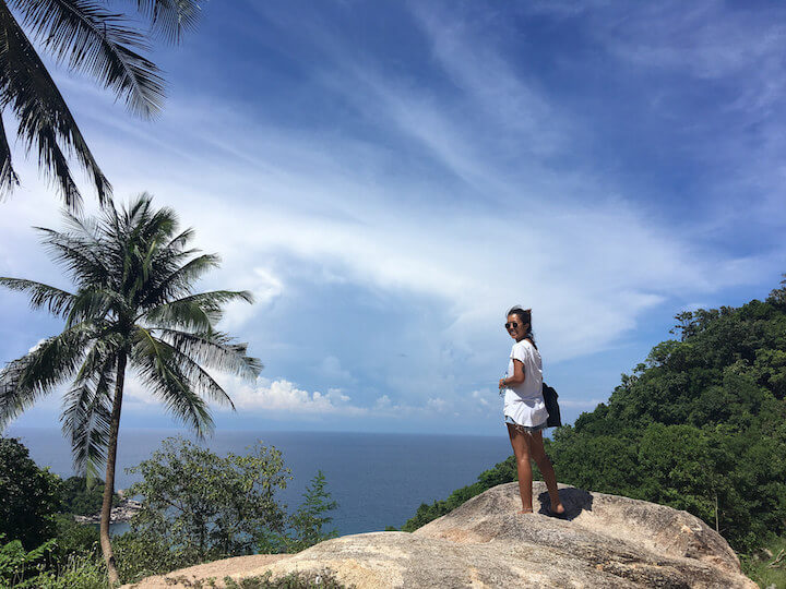 Walking to Hin Wong in Koh Tao