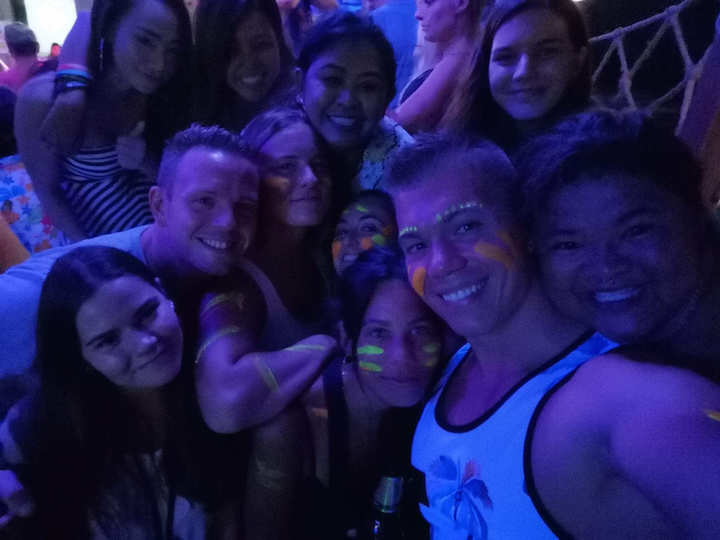 Group photo from night out at Fishbowl in Koh Tao