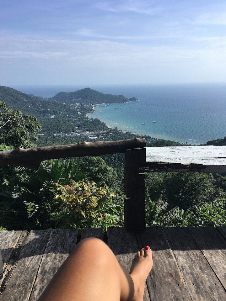 View from viewpoint in Koh Tao