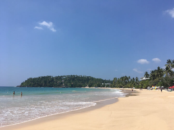 Mirissa beach in Sri Lanka