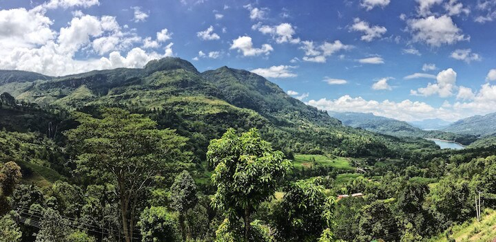 View of hill country in Sri Lanka