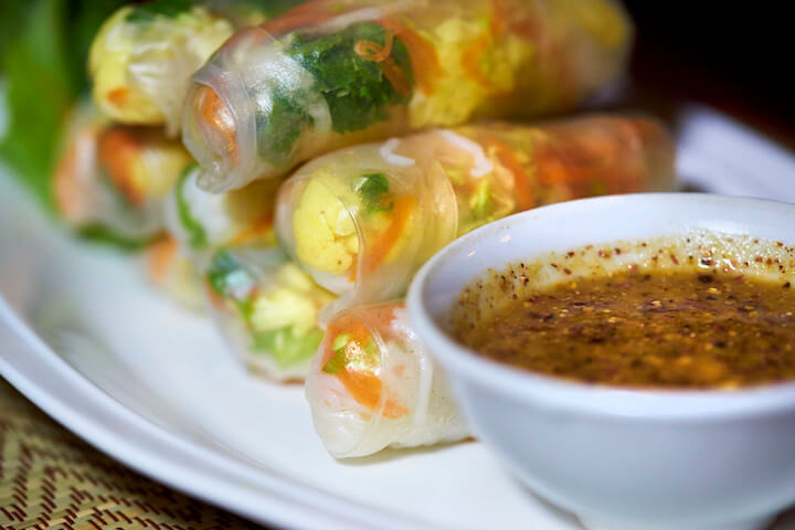 Fresh spring rolls in Thailand