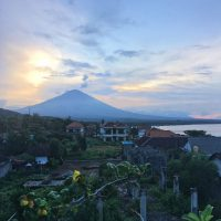 View of Mount Agung in Amed, Bali