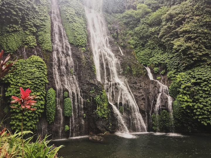 Banyumala Twin Waterfall in Bali, Indonesia