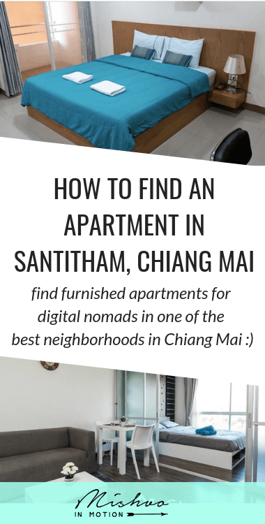 Find a place to live in Santitham, Chiang Mai as a digital nomad, including some Santitham apartments I've seen, stayed in, or recommend!
