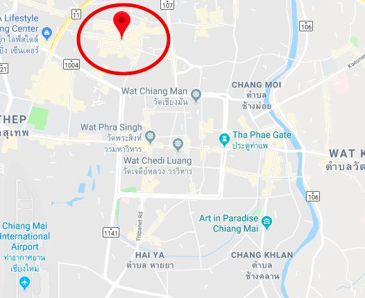 Santitham Chiang Mai map