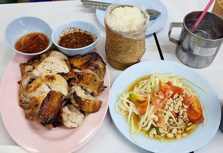 Grilled chicken northern Thai style