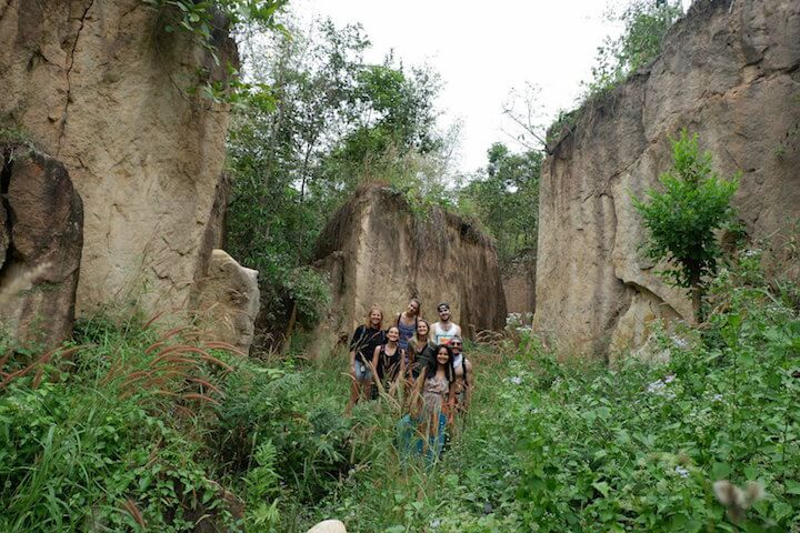 Land Split in Pai in Thailand