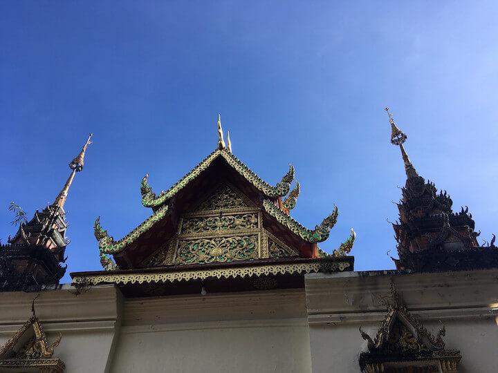 Blue sky in Chiang Mai in winter