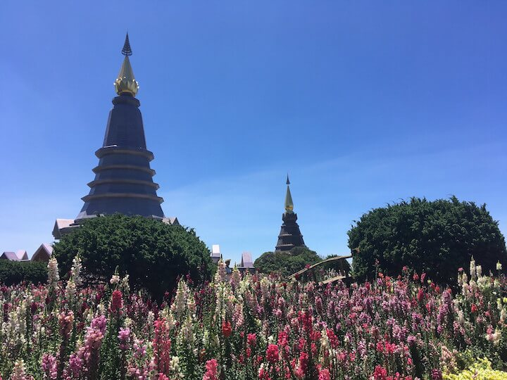 King and Queen monuments at Doi Inthanon