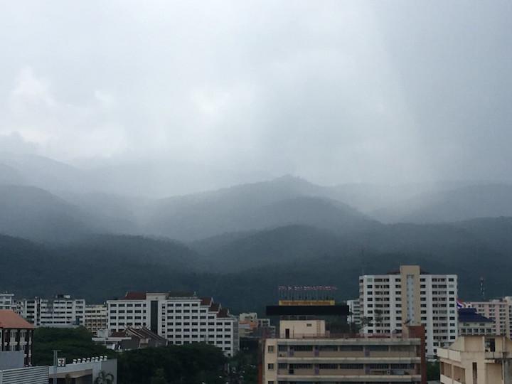 Clouds over Doi Suthep in Chiang Mai's rainy season