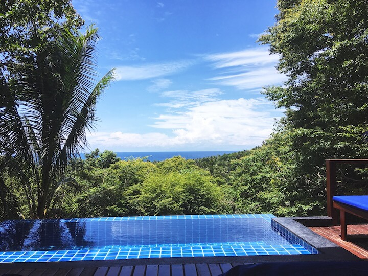 Private infinity pool at The Place Koh Tao