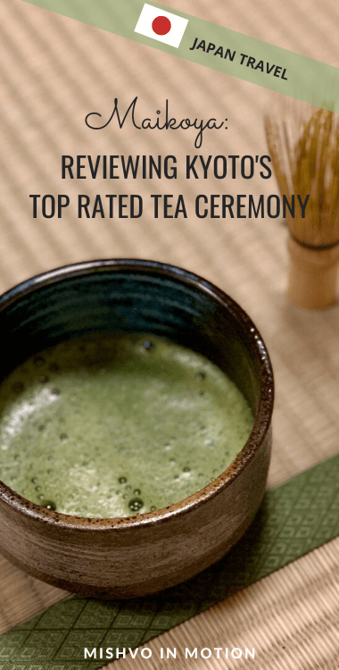 If you're putting together a Japan itinerary you must include a Japanese tea ceremony! We did the Maikoya tea ceremony in Kyoto and it was one of my favorite activities we did in Japan. I've reviewed our tea ceremony experience in this blog post!