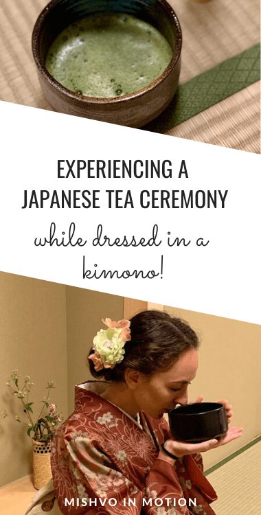 What an incredibly special experience this was! If you are looking for what to do in Japan, don't miss participating in a traditional Japanese tea ceremony. We did one in Kyoto while dressed in kimonos and it was fascinating - everything from learning about feudal Japan to the aesthetic of Japan tea houses. The matcha green tea was also super yummy :) Check out this Maikoya tea ceremony Kyoto review #kyoto #thingstodoinjapan #teaceremony #matcha