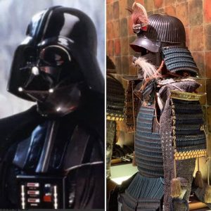 Comparison of armor of Darth Vader and samurai