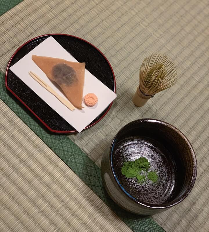 Maikoya tea ceremony kyoto review: the tea and sweets