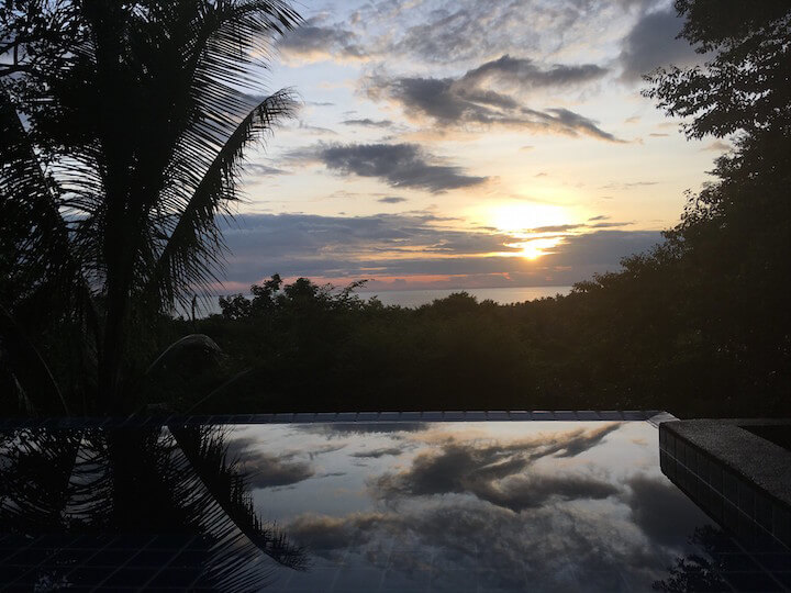 Sunset from private villa the place koh tao