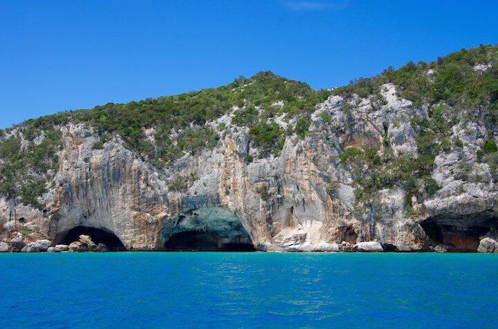 Cliffs in Cala Gonona, Sardinia