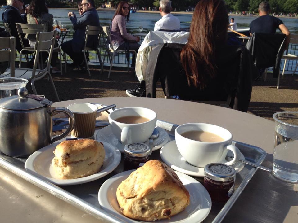 Scones in the park in London