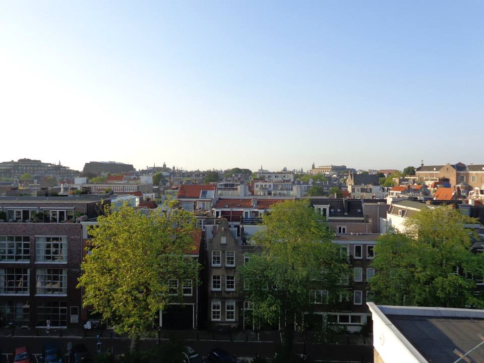 View of Amsterdam, Netherlands from a rooftop