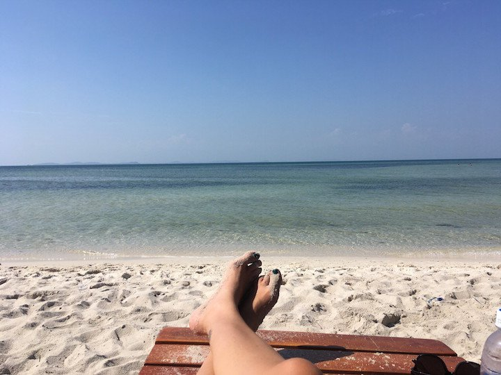 Foot selfie at the beach in Phu Quoc
