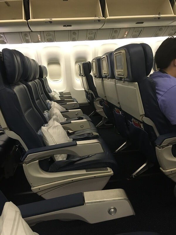 Future of travel: Empty rows in airplane during pandemic