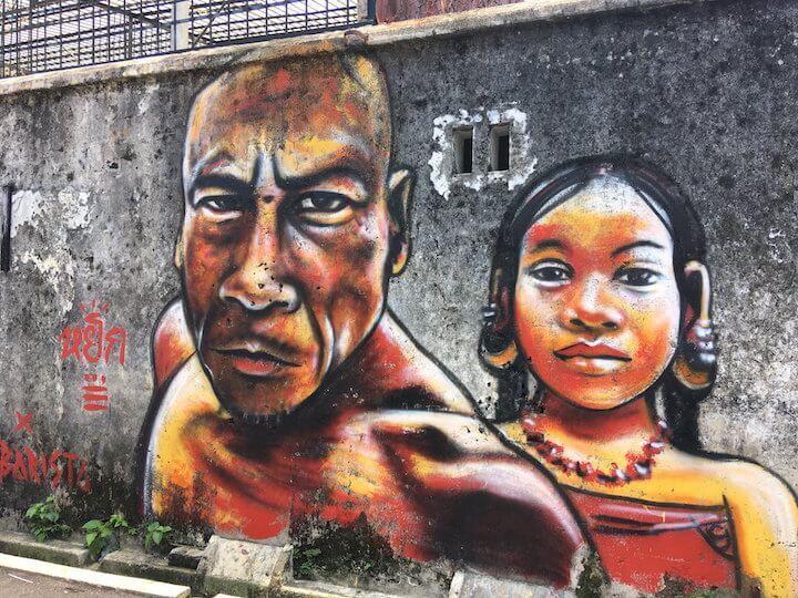 Street art graffiti in Penang, Malaysia