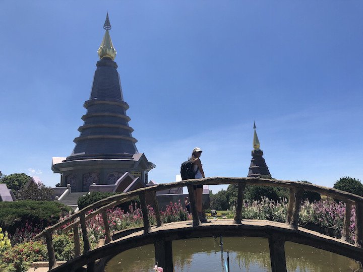 COVID travel insurance tips: At the King and Queen Pagodas in Doi Inthanon