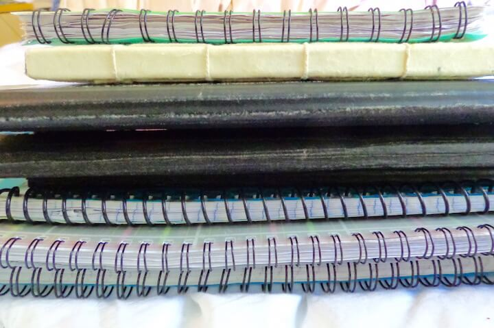 Journals stacked on top of each other